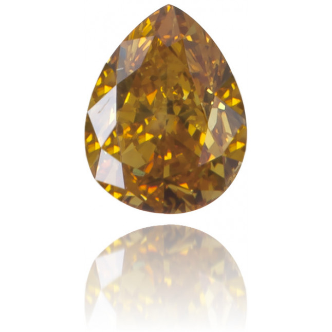Natural Orange Diamond Pear Shape 0.20 ct Polished