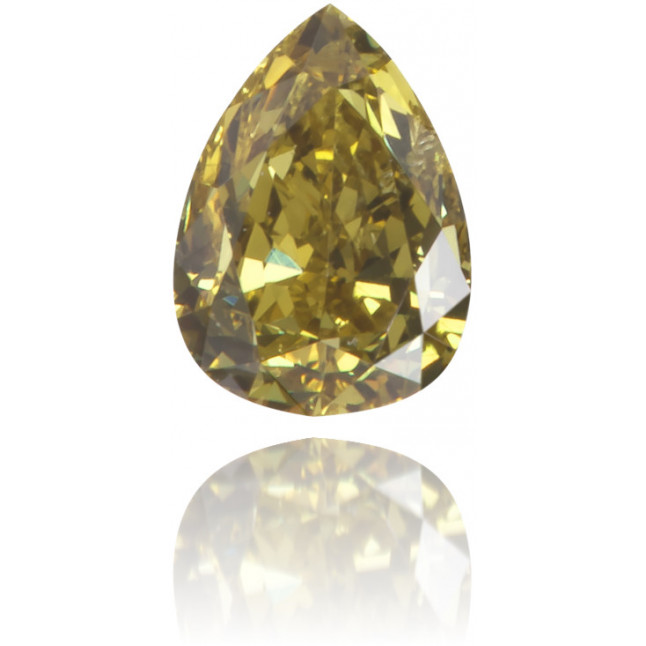 Natural Green Diamond Pear Shape 0.23 ct Polished