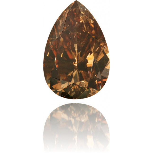 Natural Brown Diamond Pear Shape 0.91 ct Polished