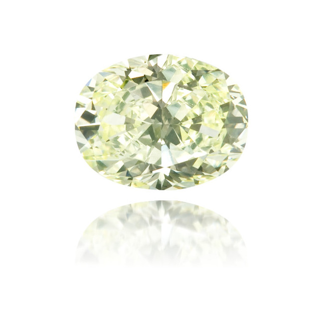 Natural Green Diamond Oval 0.56 ct Polished