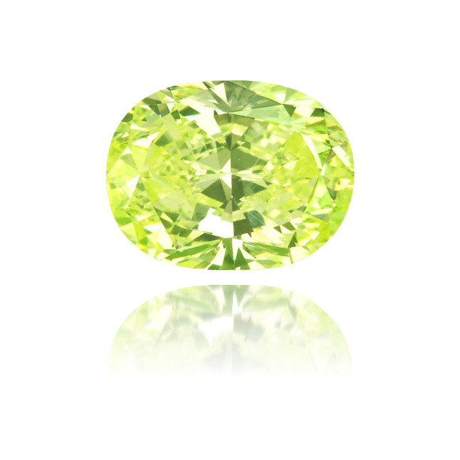 Natural Green Diamond Oval 0.57 ct Polished