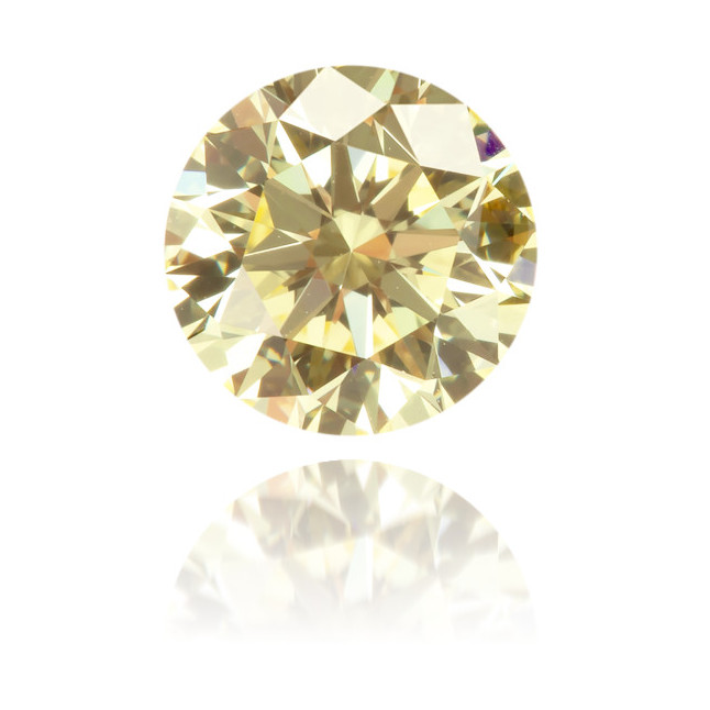 Natural Yellow Diamond Round 0.63 ct Polished