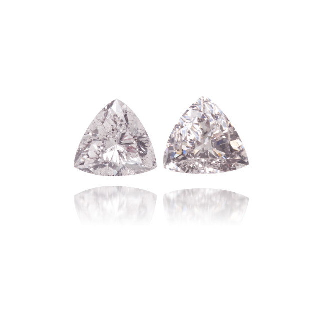 Natural Pink Diamond Triangle 0.78 ct Set