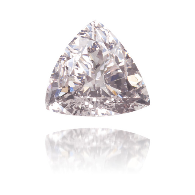 Natural Pink Diamond Triangle 0.33 ct Polished