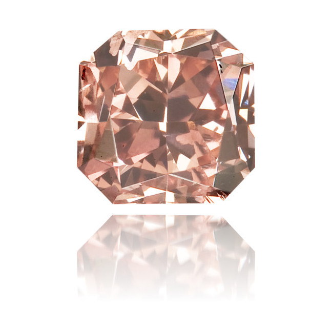 Natural Pink Diamond Square 0.44 ct Polished