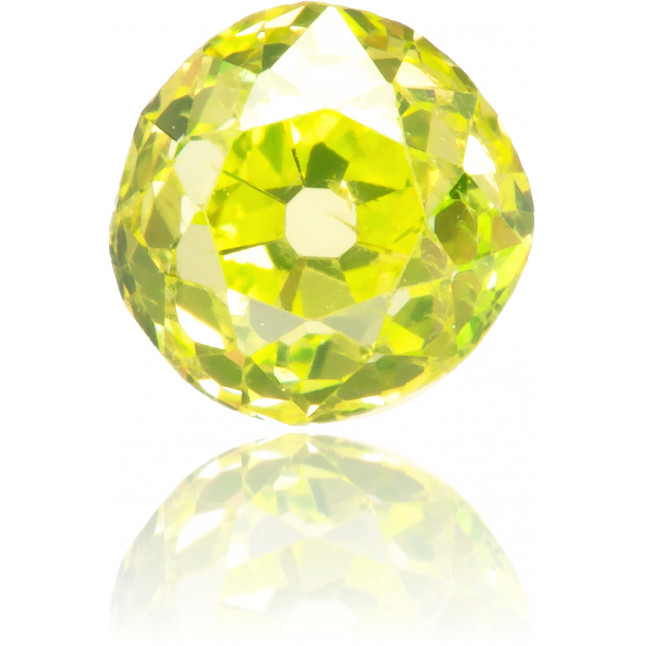 Natural Green Diamond Round 0.43 ct Polished