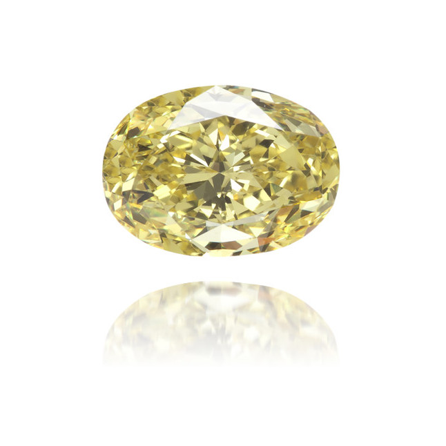 Natural Yellow Diamond Oval 0.83 ct Polished