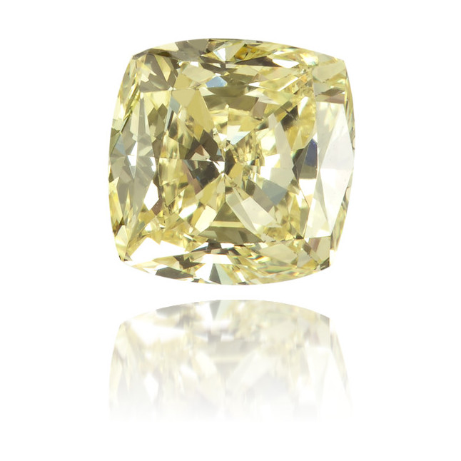 Natural Yellow Diamond Square 0.56 ct Polished
