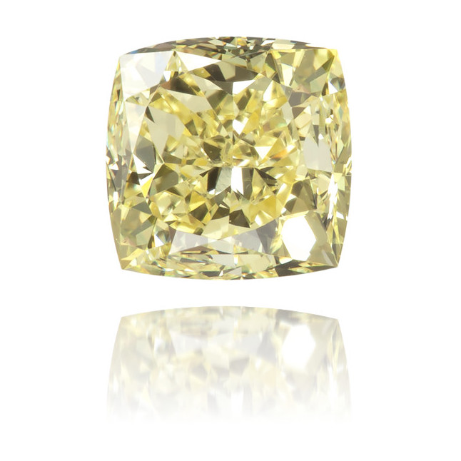 Natural Yellow Diamond Square 0.69 ct Polished