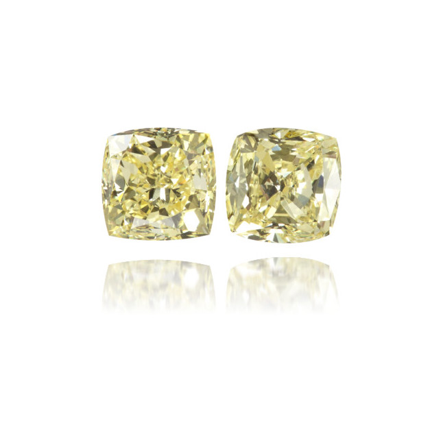 Natural Yellow Diamond Square 1.25 ct Set