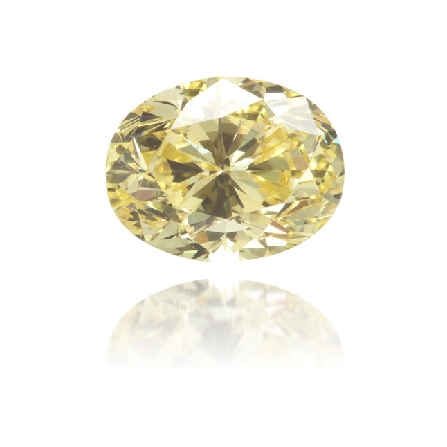 Natural Yellow Diamond Oval 0.64 ct Polished