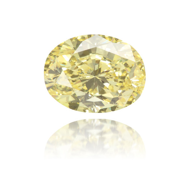 Natural Yellow Diamond Oval 0.69 ct Polished