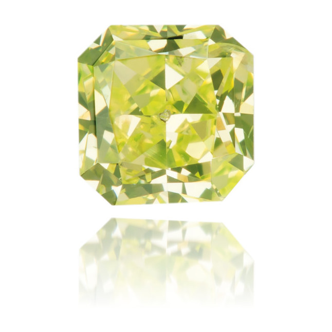 Natural Green Diamond Square 0.21 ct Polished