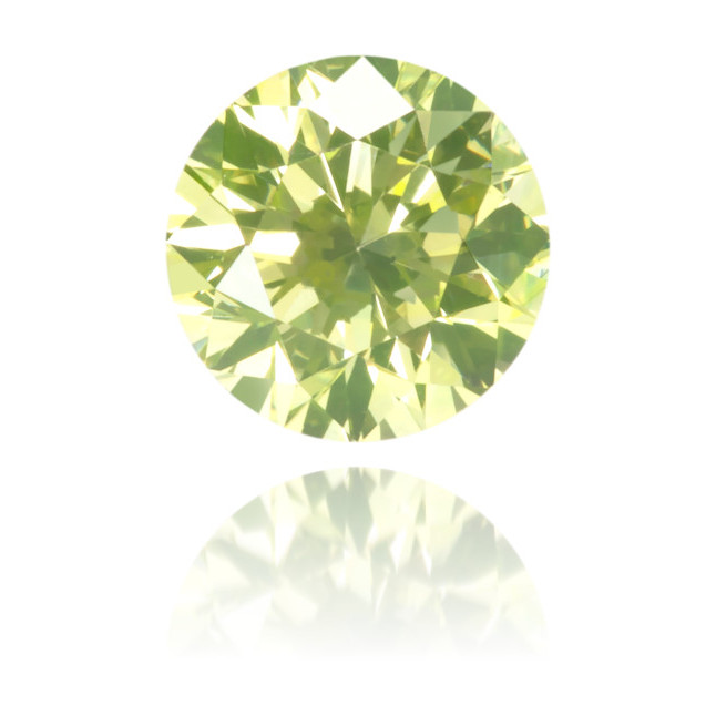Natural Green Diamond Round 0.39 ct Polished