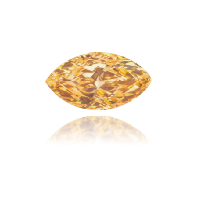 Natural Orange Diamond Marquise 0.25 ct Polished