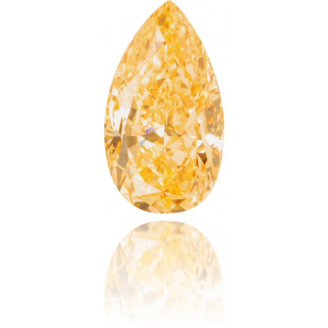 Natural Orange Diamond Pear Shape 0.60 ct Polished