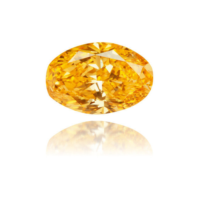 Natural Orange Diamond Oval 0.47 ct Polished