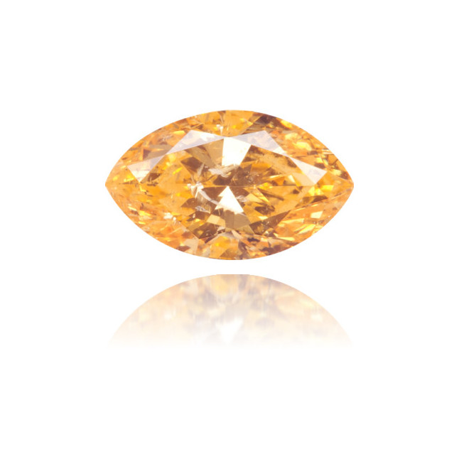 Natural Orange Diamond Marquise 0.42 ct Polished