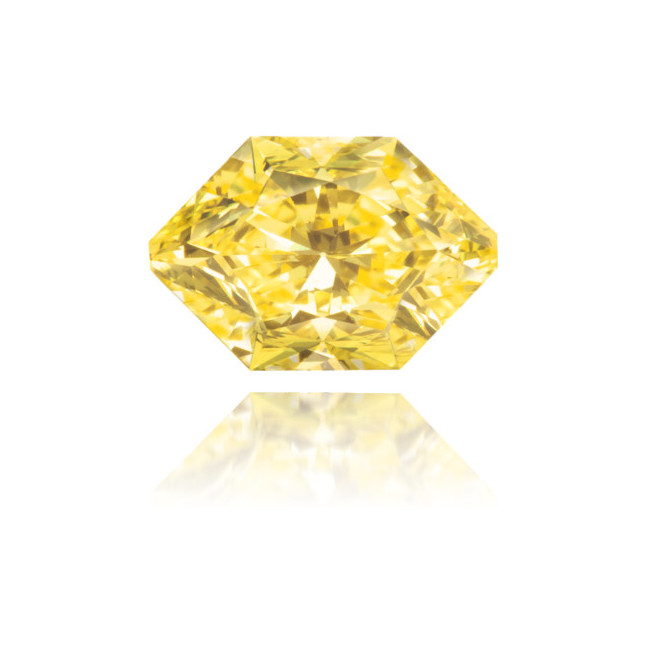 Natural Yellow Diamond Hexagon 0.53 ct Polished