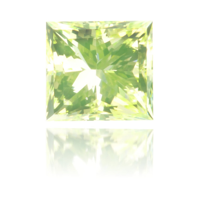 Natural Green Diamond Square 0.15 ct Polished