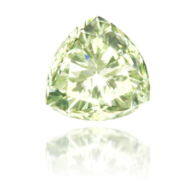 Natural Green Diamond Triangle 0.66 ct Polished