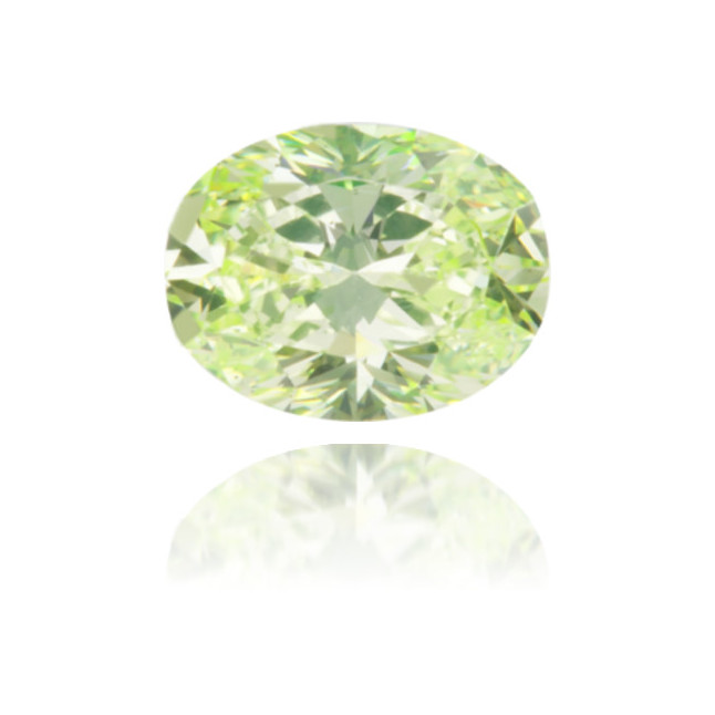 Natural Green Diamond Oval 0.51 ct Polished
