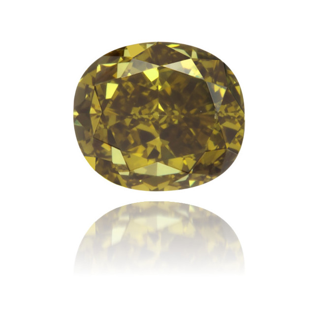 Natural Green Diamond Cushion 0.30 ct Polished