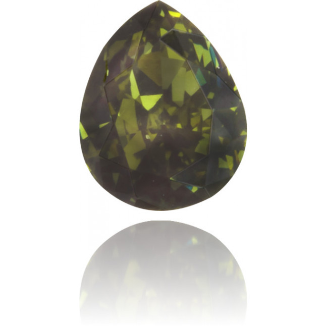 Natural Green Diamond Pear Shape 0.25 ct Polished