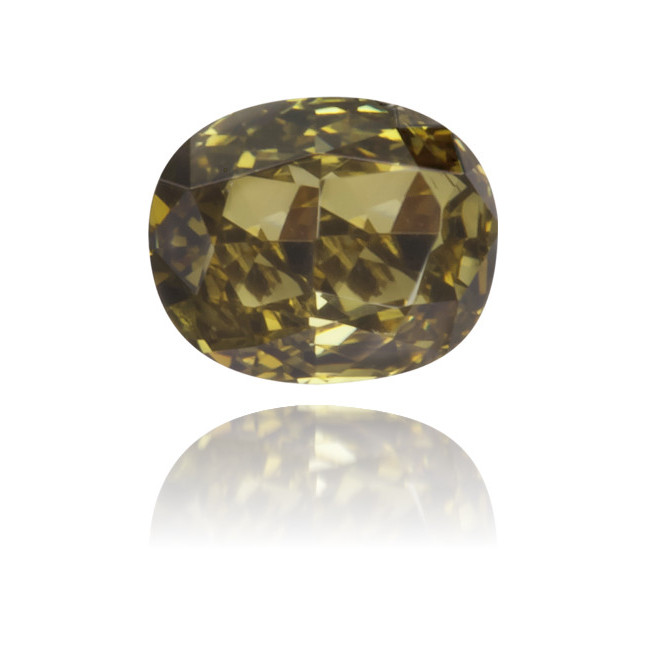 Natural Green Diamond Cushion 0.16 ct Polished