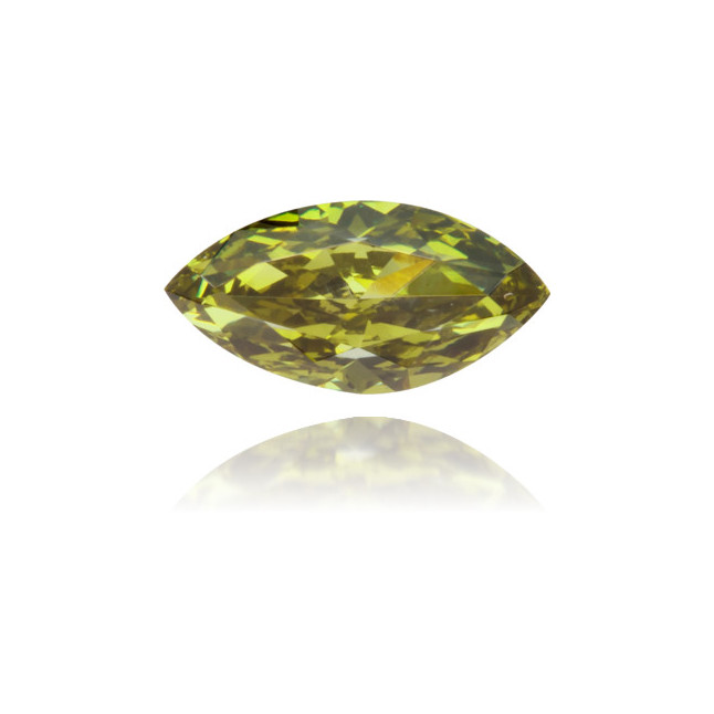Natural Green Diamond Marquise 0.24 ct Polished