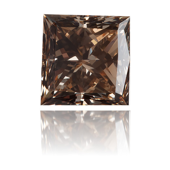 Natural Brown Diamond Square 0.18 ct Polished