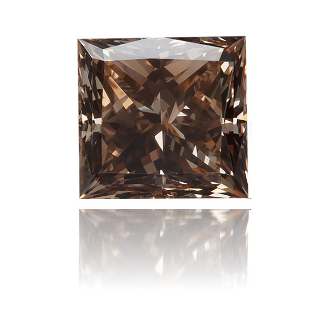 Natural Brown Diamond Square 0.19 ct Polished