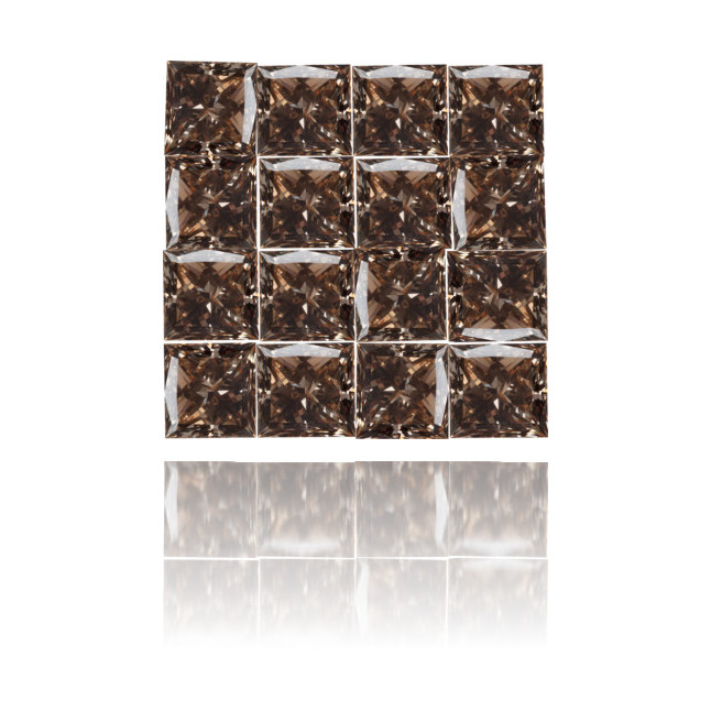 Natural Brown Diamond Square 2.81 ct Set