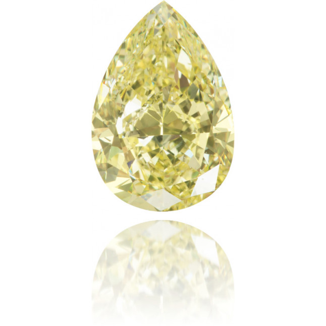 Natural Yellow Diamond Pear Shape 4.03 ct Polished
