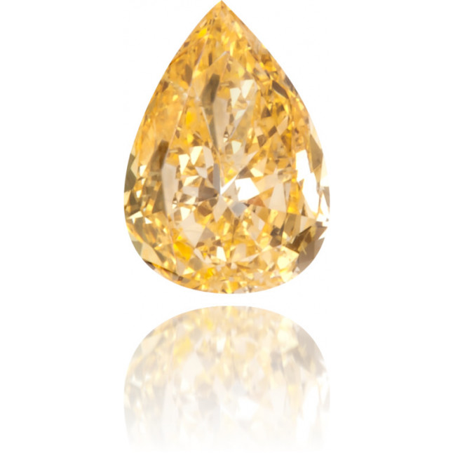 Natural Orange Diamond Pear Shape 0.11 ct Polished