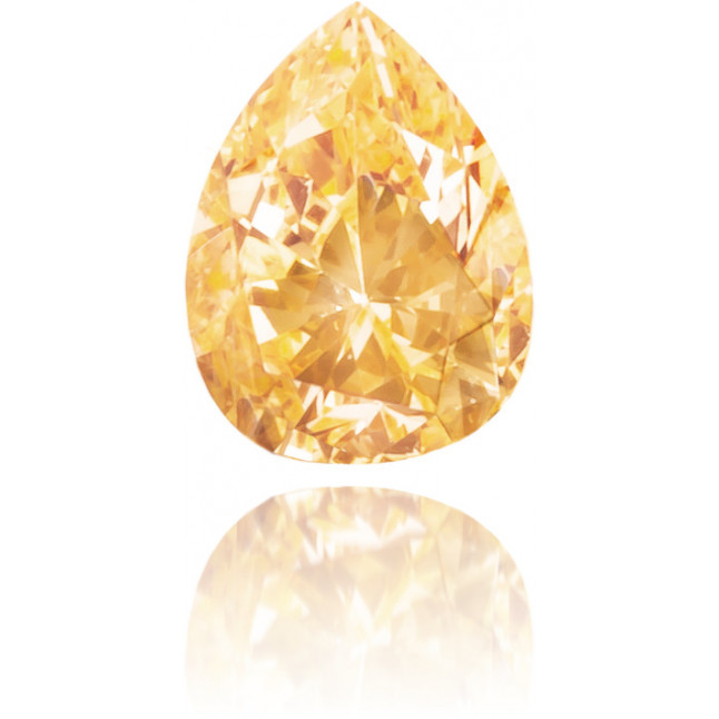 Natural Orange Diamond Pear Shape 0.10 ct Polished
