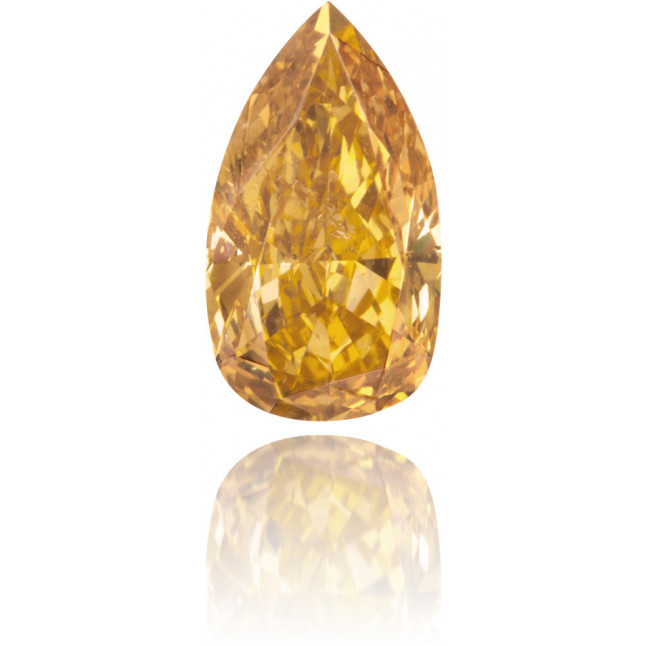 Natural Orange Diamond Pear Shape 2.01 ct Polished