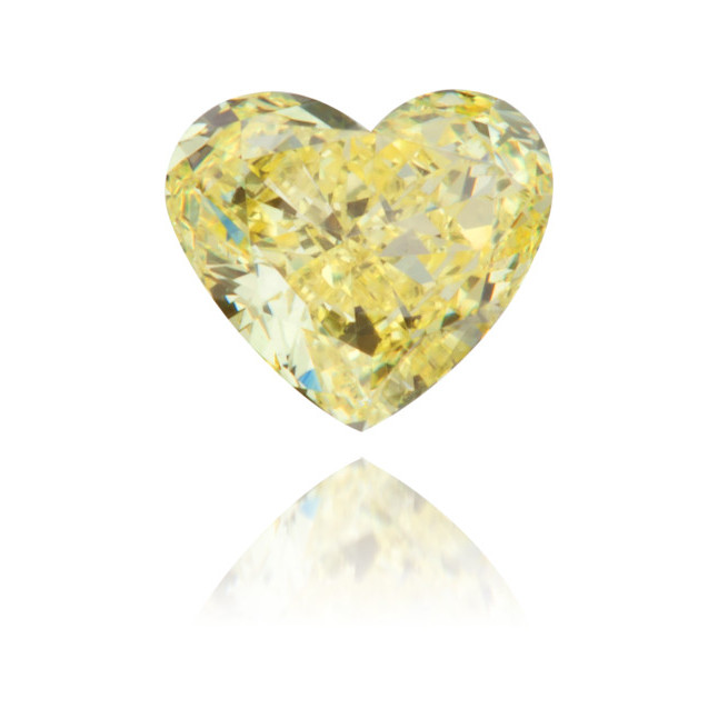 Natural Yellow Diamond Heart Shape 0.22 ct Polished