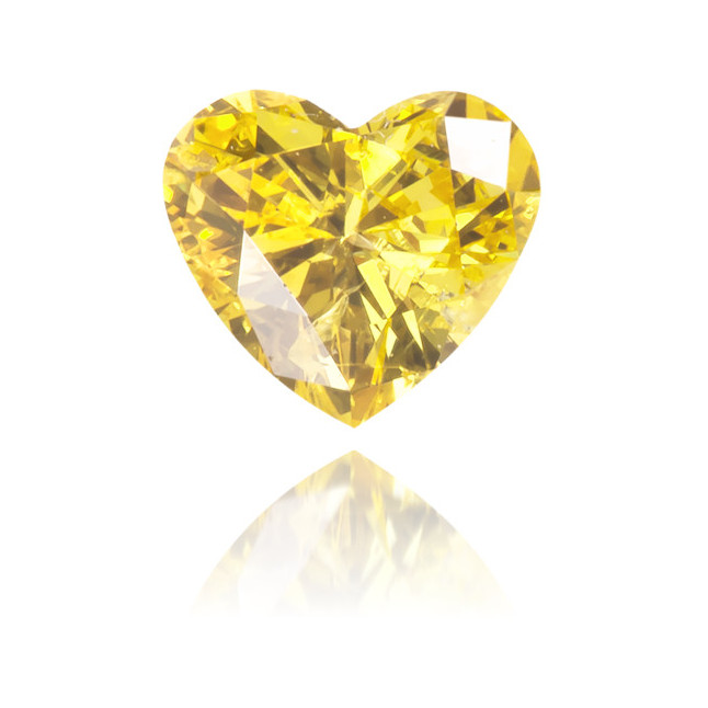 Natural Yellow Diamond Heart Shape 0.19 ct Polished