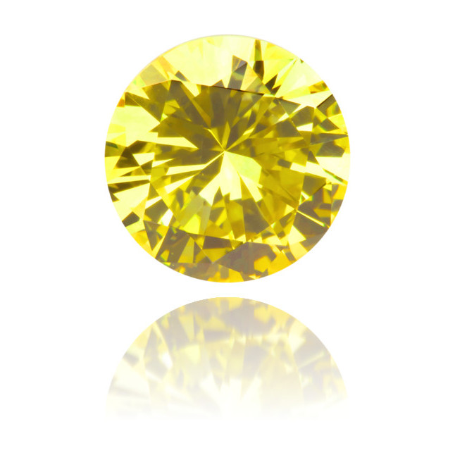 Natural Yellow Diamond Round 0.83 ct Polished