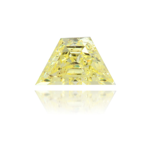 Natural Yellow Diamond Trapeze 0.70 ct Polished