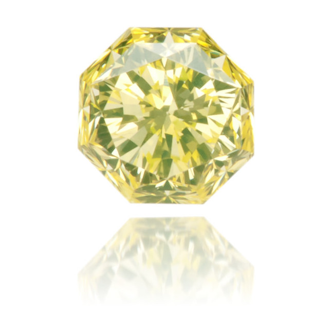 Natural Yellow Diamond Octagon 0.22 ct Polished