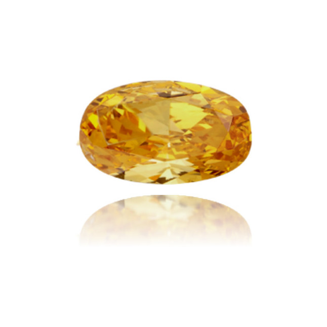 Natural Orange Diamond Oval 0.25 ct Polished