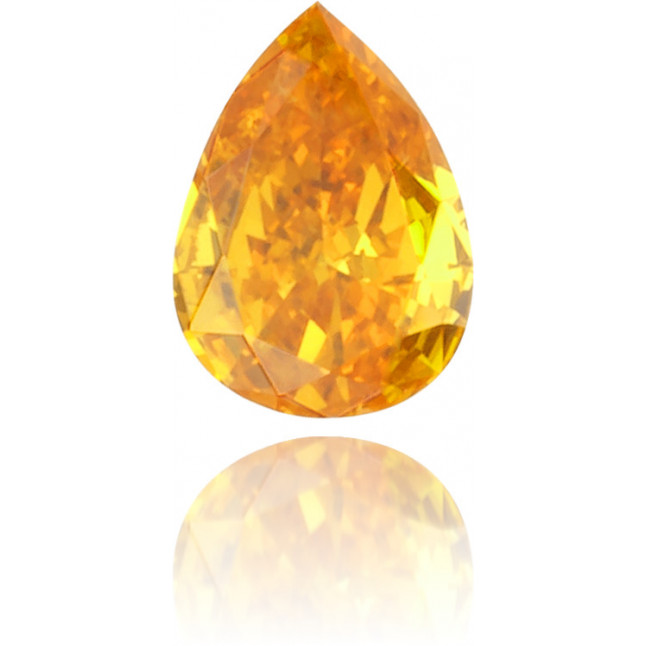 Natural Orange Diamond Pear Shape 0.15 ct Polished