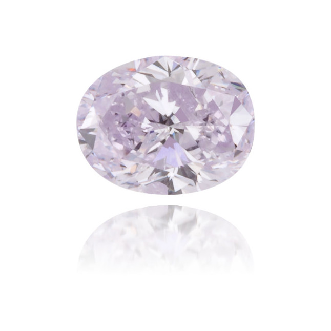 Natural Purple Diamond Oval 0.31 ct Polished