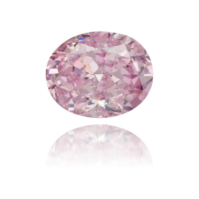 Natural Pink Diamond Oval 0.22 ct Polished