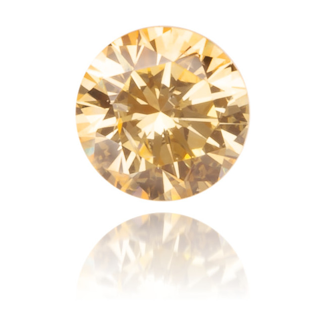 Natural Orange Diamond Round 0.16 ct Polished