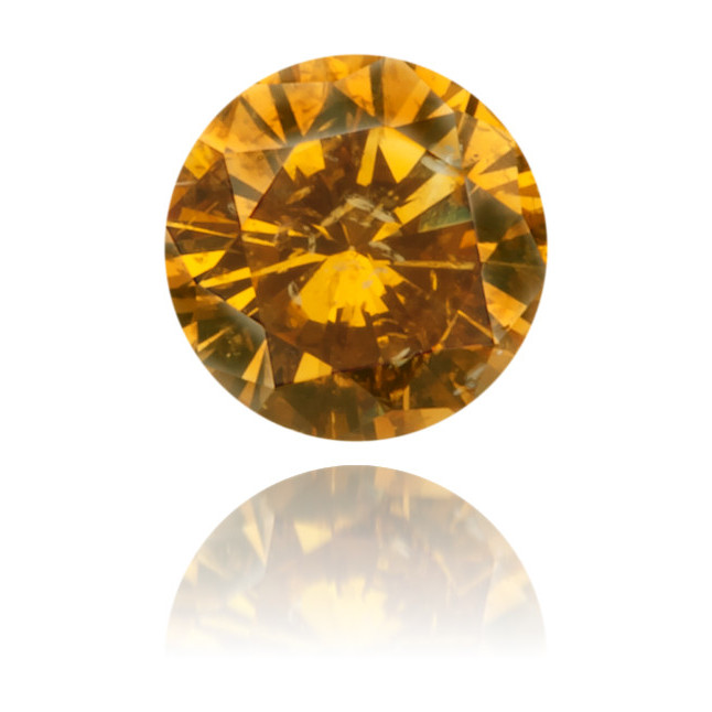 Natural Orange Diamond Round 0.23 ct Polished