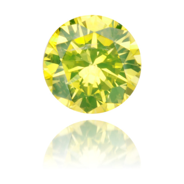Natural Yellow Diamond Round 0.09 ct Polished