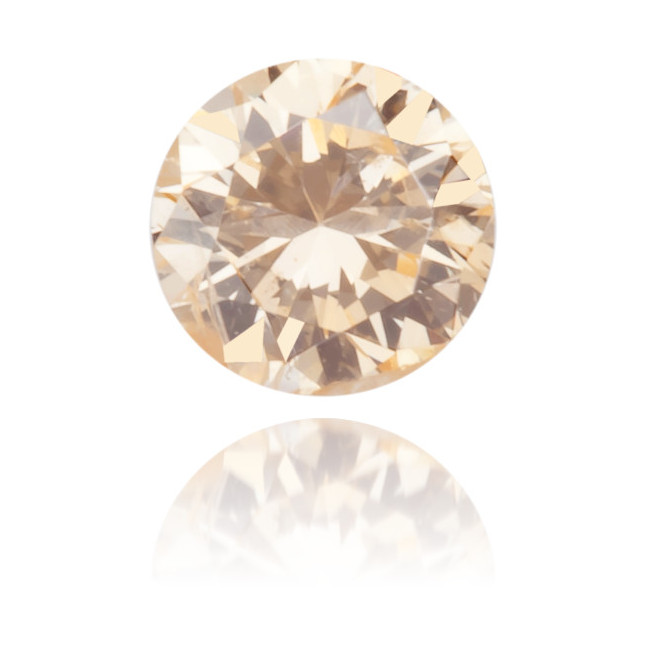 Natural Orange Diamond Round 0.10 ct Polished